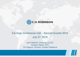 C.H. Robinson Worldwide Inc. 2016 Q2 - Results - Earnings Call ... Ch Robinson Worldwide United Recyclers Group Llc Rl Carriers Wikiwand About Home Facebook Responding To Uber Freight Technology And Container Truckers Journey Flickr Chrw Stock Price Financials News Ch Truck My Lifted Trucks Ideas Stock Analysis Tawcan Financial New System Kept Distribution Moving During Hurricanes Pars Stop Quebec Infographic Remove Shipping Barriers At The Canadaus Border