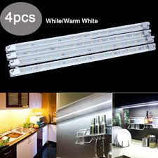 4x kitchen cabinet counter led light bar kit warm white