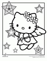 Hello Kitty Christmas Coloring Pages For Kids 3