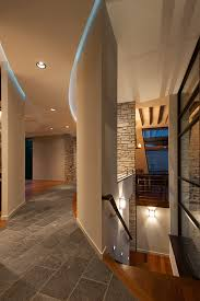 hallway ceiling lights contemporary with cove lighting curved