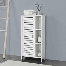 en casa schrank vansbro badezimmerschrank badkommode mit ablagen 96x48x24cm weiß