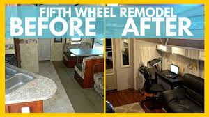 RV REMODEL BEFORE AND AFTER For Full Time Living