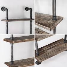 Rustic Industrial 6 Level Metal Pipe Wall Shelf H M S Remaining