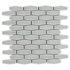willow elongated hexagon porcelain mosaic 12 x 12 100183276