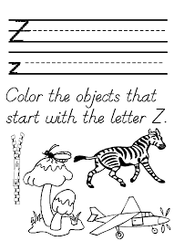 Letter Z Worksheets For Preschool Free Worksheets Library
