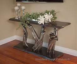 Log Sofa Table In Living Room