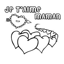 dessin pour imprimer coloriage coeur maman a imprimer gratuit