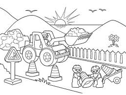 Lego Duplo Road Construction Coloring Pages