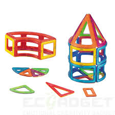 Magna Tiles Master Set by Mag Genius Magnetic Building Blocks Translucent Colours Preschool