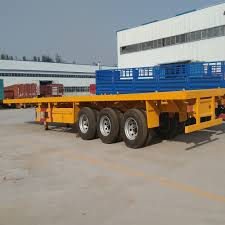 3 Axle 20ft 40ft Flatbed Truck Trailer Load Capacity - Buy 40ft ...