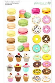 38 Dessert Planner Stickers Macarons Donut Cupcake By Yaelyaniv
