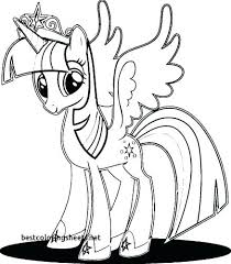 Twilight My Little Pony Coloring Page Sparkle Pages Awesome Baby