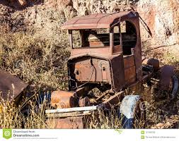 Retro Abandoned Truck In Junk Yard Stock Photo - Image Of Frame ...