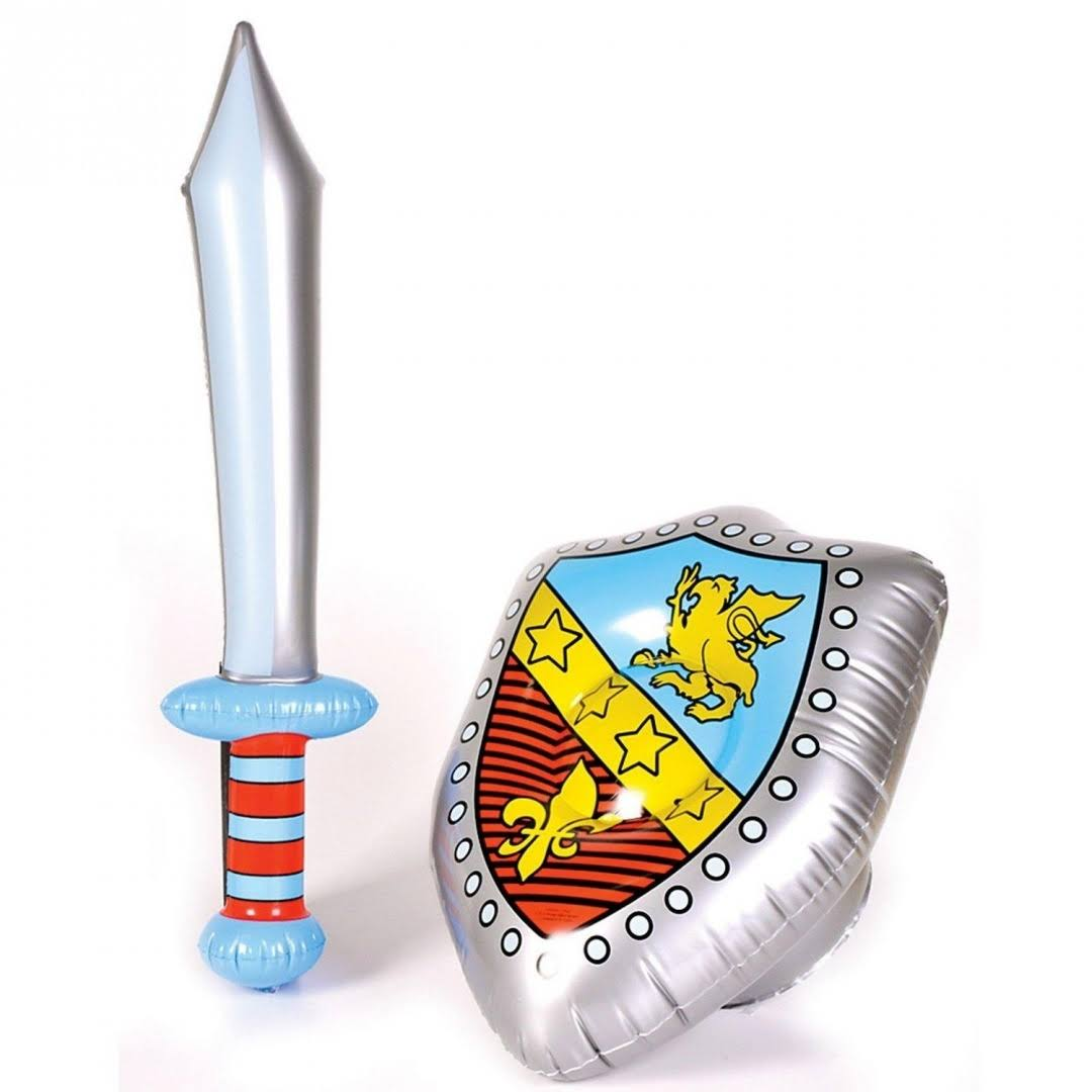 Inflatable Costume Accessory Knight Shield and Sword Set