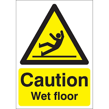 Banana Wet Floor Sign by Awesome Caution Wet Floor Sign In Rigid Plastic Or Vinyl With
