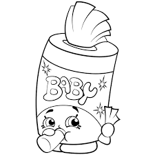 Baby Swipes Shopkins Season 2 Coloring Pages Printable And Book To Print For Free Find More Online Kids Adults Of