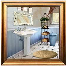 wbmkh rahmenloses wandbild für badezimmer esszimmer