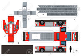 100 Paper Truck Model Of A Fire Royalty Free Cliparts Vectors And