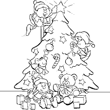A Drawing Of The Christmas Tree Decoration