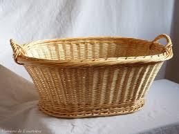 corbeille à linge ovale 63 cm en osier artisanat vente en ligne