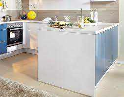 medano wohnküche in u form mit blauen fronten meda gute küchen