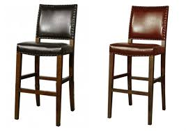 Black Leather Bar Stools by Amazing Stools Black Leather Bar Stool Chair Barstool For Counter