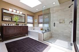 linen look tile bathroom with grey metro glazed murals