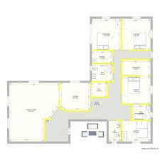 maison plain pied 5 chambres plan de maison plein pied plain gratuit chambres plan de la maison
