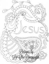 Jesus Adult Christian Coloring Page Christiancoloring On Etsy By LaChicDominique