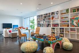 cool coral pouf mode seattle contemporary family room decorating