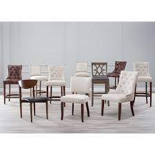 Upholstered Dining Chairs With Nailheads by Belham Living Thomas Tufted Tweed Dining Chairs Set Of 2 Hayneedle