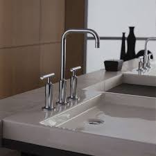 Kohler Purist Widespread Lavatory Faucet by Purist Deck Mounted Sink Faucet By Kohler Yliving