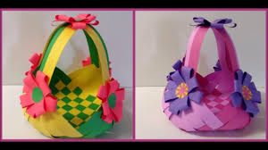 DIY Paper Basket For Easter Howto Make