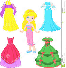 Little Girl Dress Clipart