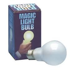 Image is loading PUSH BUTTON MAGIC LIGHT BULB Halloween Uncle Fester