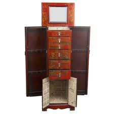 Red Leather Hand-painted Oriental Jewelry Armoire Antique Jewelry Armoire Masterpiece Parchment Hand Painted Pjh Designs Fniture Shabby Chic Pink 11 Best Jewelry Boxes Images On Pinterest Armoire Rustic Inspiration Expanded Your Mind Powell Chalk Vintage Best 25 Ideas Cabinet And Distressed In Robin Egg Blue 0