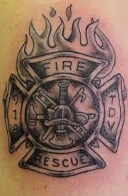 Irish Firefighter Tattoo Design Photo