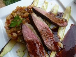recette magret de canard aux épices et ratatouille aigre douce