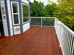 refinished deck stained with ready seal mahogany our deck and