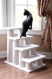 cat stairs armarkat pet steps 4 steps b4001 ivory pet