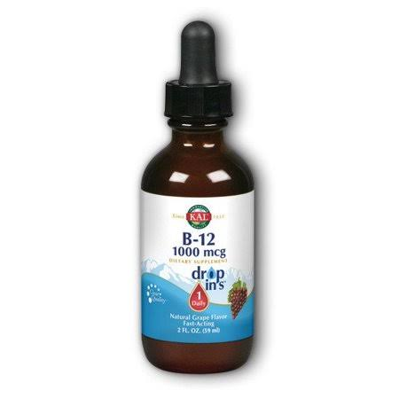 Kal B-12 Dropins Grape Liquid - 2oz
