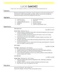 Team Leader Resume Example Fast Food Shift Examples Best Supervisor Restaurant Emphasis 3