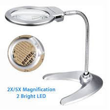 Desktop Magnifying Lamp Canada by 2x 5x Magnifying Glass Desktop Magnifier 2 Led For Jewelry Watch