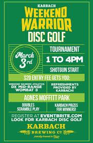 Karbach Disc Golf Tournament Agnes Moffitt Disc Golf Park Houston