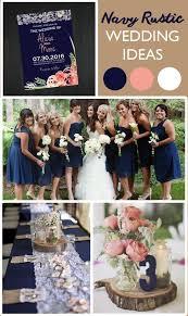 Navy Rustic Wedding Ideas