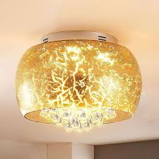 led deckenle joicy glas satiniert leds hell leuchtstark