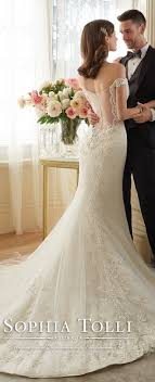 Sophia Tolli Lace Wedding Dresses With Illusion Back Spring 2016 Y11634