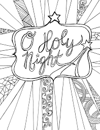 Free Adult Coloring Page Printable For Christmas Pages Adults
