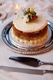 Small Rustic Naked Wedding Carrot Cake