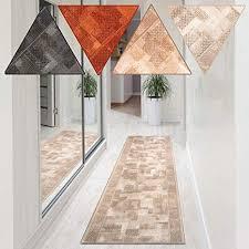 casa pura teppich läufer tribe zeitloser teppichläufer mit dezentem muster rutschfester rücken für wohnzimmer flur küche kurzflor meterware
